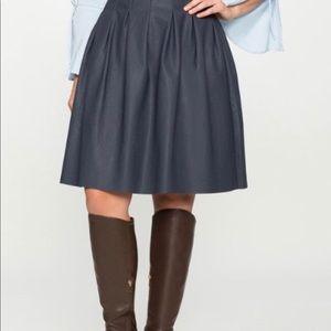 Eloquii Navy Blue Vegan Leather A-Line Skirt 16
